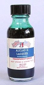 1oz. Bottle Transparent Green Lacquer - ALCLAD 404