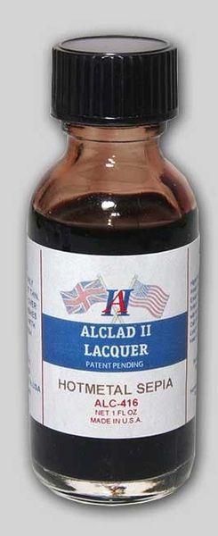 1oz. Bottle Transparent Hot Metal Sepia Lacquer - ALCLAD 416