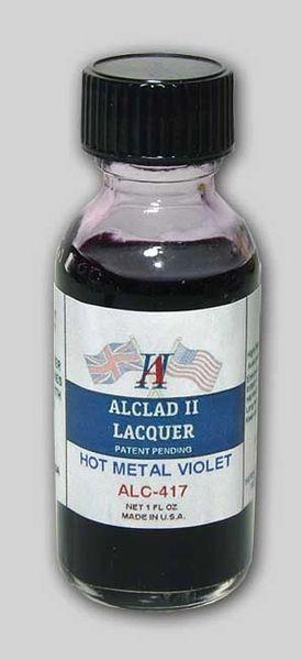 1oz. Bottle Transparent Hot Metal Violet Lacquer - ALCLAD 417