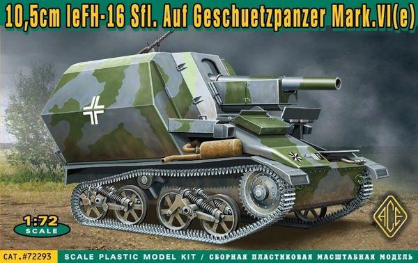 1/72 10,5cm leFH16 Sfl on Geschetzpanzer Mk IV(e) - ACE 72293