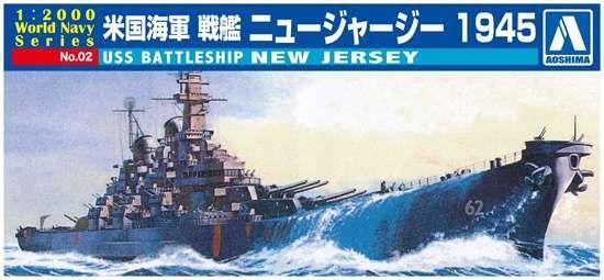 1/2000 USS New Jersey Battleship - Aoshima 9338