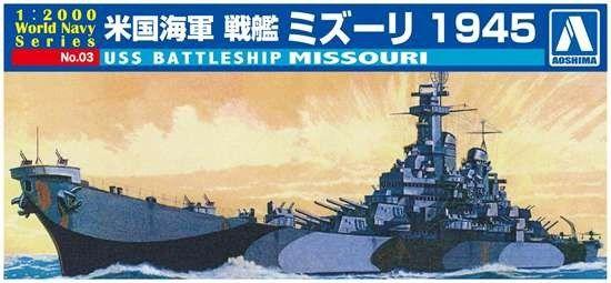 1/2000 USS Missouri Battleship - Aoshima 9345