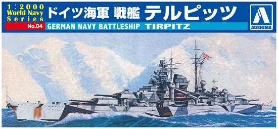1/2000 German Tirpitz Battleship - Aoshima 9352