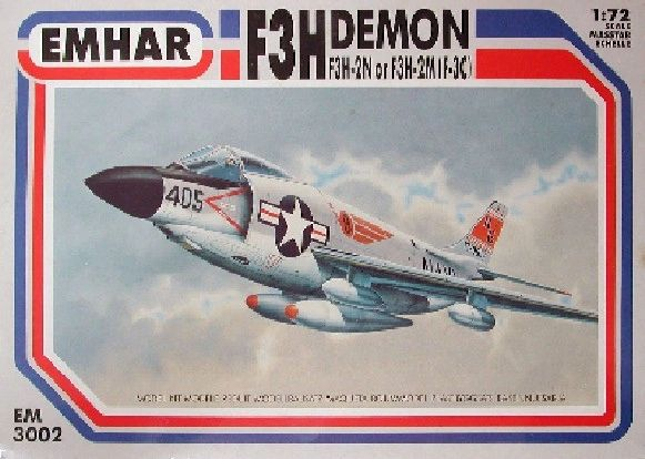 1/72 F3H Demon F3H-2N/F3H-2M (F3C) USN Fighter - Emhar 3002