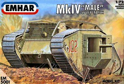 1/72 WWI Male Mk IV Tank - Emhar 5001