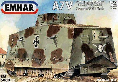 1/72 WWI A7V Sturm Pz Tank - Emhar 5003
