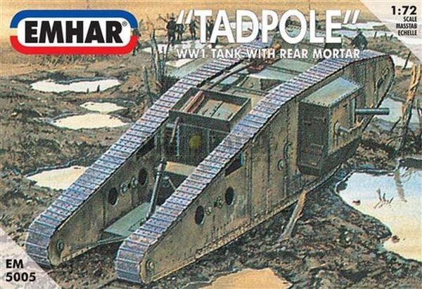 1/72 WWI British Tadpole Mk IV Tank w/Rear Mortar - Emhar 5005