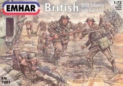 1/72 WWI British Infantry w/Tank Crew (52) - Emhar 7201