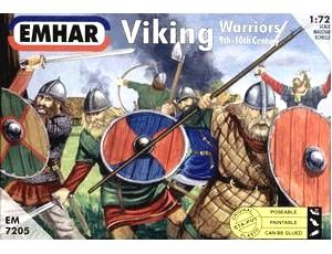 1/72 9th-10th Century Viking Warriors (50) - Emhar 7205