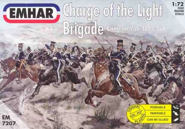 1/72 Crimean War 1854-56 Charge of the Light Brigade (18 Mounted) - Emhar 7207