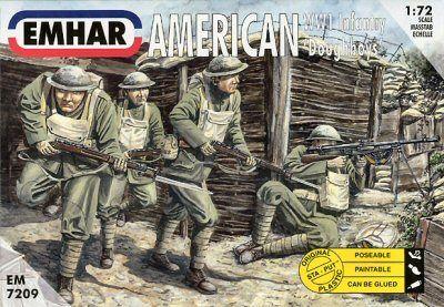 1/72 WWI American Doughboys Infantry (50) - Emhar 7209