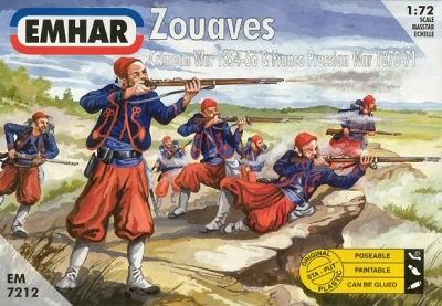 1/72 Crimean War 1854-56 & Franco Prussian War 1870-71 Zouaves (50) - Emhar 7212