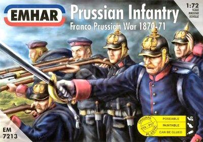 1/72 Franco Prussian War 1870-71 Prussian Infantry (50) - Emhar 7213