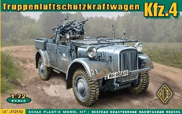 1/72 WWII Truppen-Luftschutz-Kraftwagen Kfz4 German Anti-Aircraft Vehicle - ACE 72512