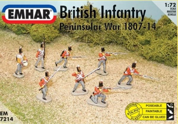 1/72 Peninsular War 1807-14 British Infantry (48 & 1 Horse) - Emhar 7214