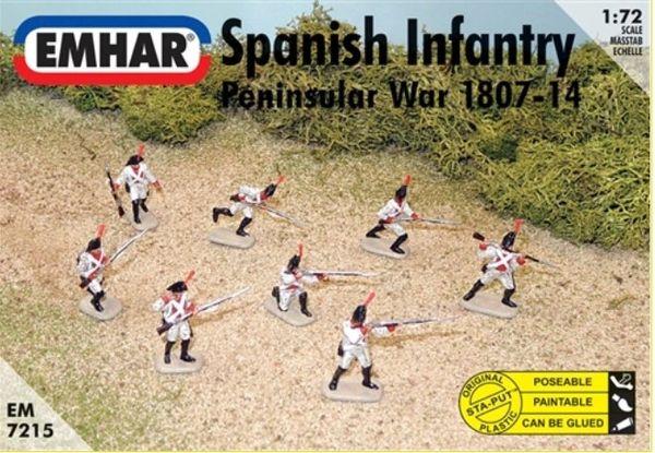 1/72 Peninsular War 1807-14 Spanish Infantry (46 & 1 Horse) - Emhar 7215