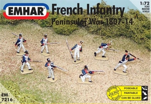 1/72 Peninsular War 1807-14 French Infantry - Emhar 7216