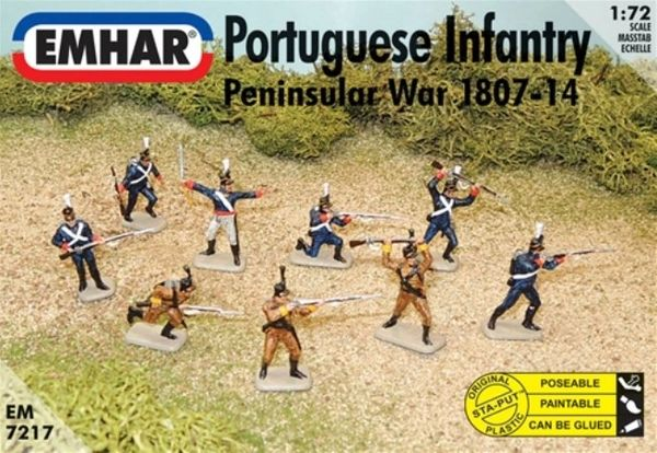 1/72 Peninsular War 1807-14 Portuguese Infantry (46) - Emhar 7217