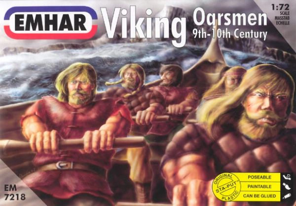 1/72 9th-10th Century Viking Oarsmen (32 seated & 10 standing) - Emhar 7218