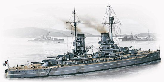 1/350 WWI German Konig Battleship - ICM 1