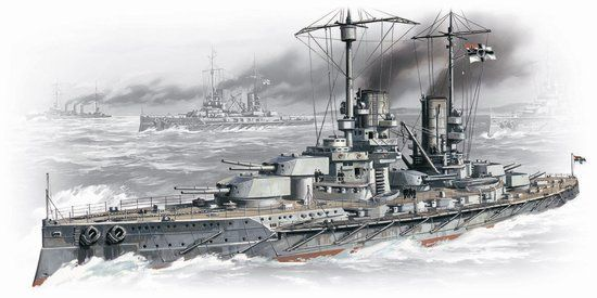 1/350 WWI German Grosser Kurfurst Battleship - ICM 2