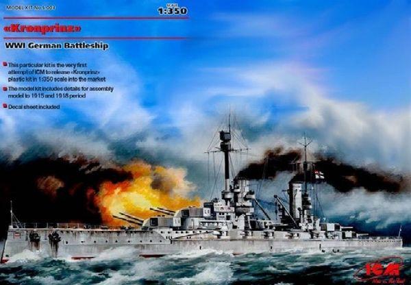 1/350 WWI German Kronprinz Battleship - ICM 3