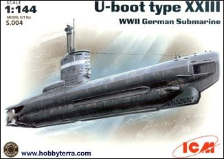 1/144 WWII German U-Boat Type XXIII Submarine - ICM 4
