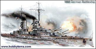 1/350 WWI German Markgraff Battleship - ICM 5
