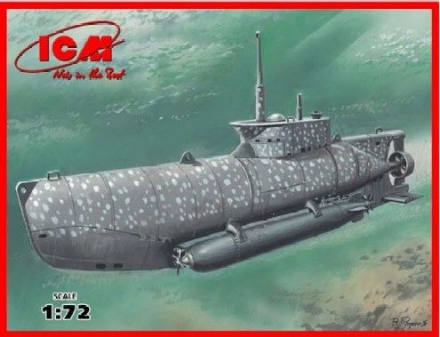 1/72 WWII German U-Boat Type XXVIIB Seehund (Early) Midget Submarine - ICM 6