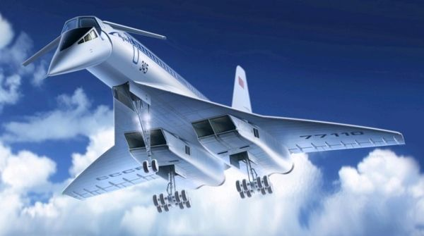1/144 Soviet Tupolev 144 Charger Supersonic Passenger Airliner - ICM 14401