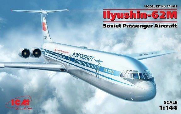 1/144 Soviet Ilyushin IL62M Passenger Airliner - ICM 14405