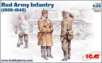 1/35 Soviet Red Army Infantry 1939-1942 (3) - ICM 35051