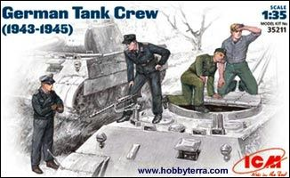1/35 WWII German Tank Crew (4) - ICM 35211