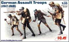 1/35 German Assault Troops 1917-18 (4) - ICM 35291