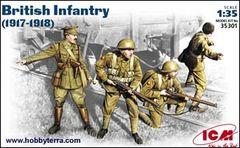 1/35 British Infantry 1917-18 (4) - ICM 35301