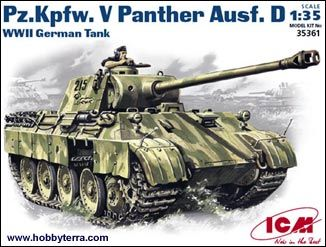1/35 WWII German PzKpfw V Panther Ausf D Tank - ICM 35361