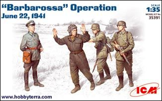 1/35 WWII Barbarossa Operation Figure Set Jun 1941 (4) - ICM 35391