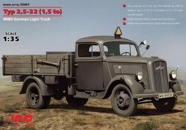 1/35 WWII German Type 2,5-32 (1,5ton) Light Truck - ICM 35401