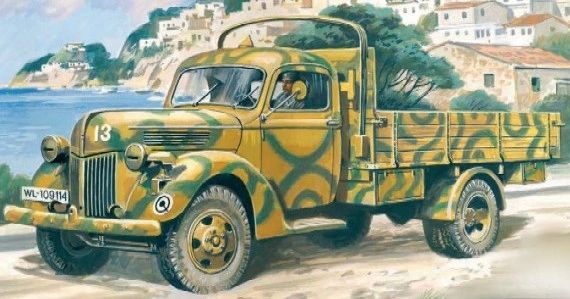 1/35 German V3000S 1941 Production Army Truck - ICM 35411