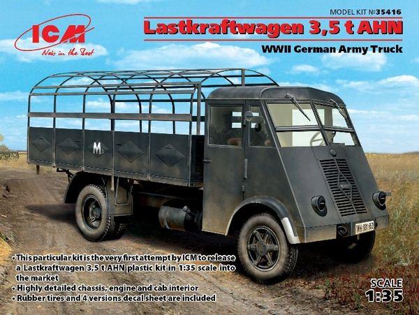 1/35 WWII German Lastkraftwagen 3,5t AHN Open Top Army Truck - ICM 35416