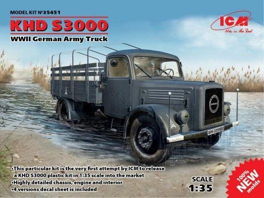 1/35 WWII German KHD S3000 Army Truck - ICM 35451