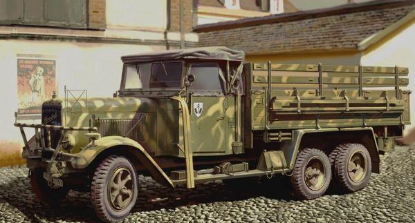 1/35 WWII German Henschel 33 D1 Army Truck - ICM 35466