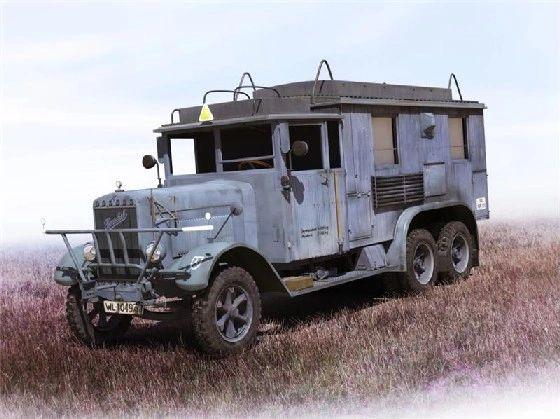 1/35 WWII German Henschel 33 D1 Kfz 72 Radio Communication Truck - ICM 35467