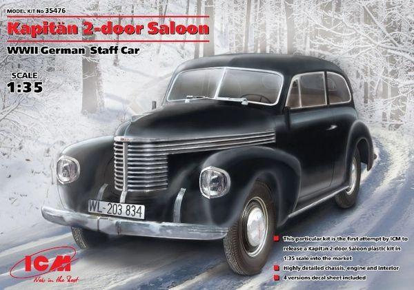 1/35 WWII German Kapitan 2-Door Saloon Staff Car - ICM 35476