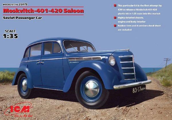 1/35 WWII Soviet Moskvitch 401/420 Saloon Passenger Car - ICM 35479