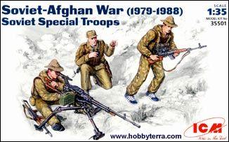 1/35 Soviet Special Troops Soviet-Afghan War 1979-88 (3) - ICM 35501