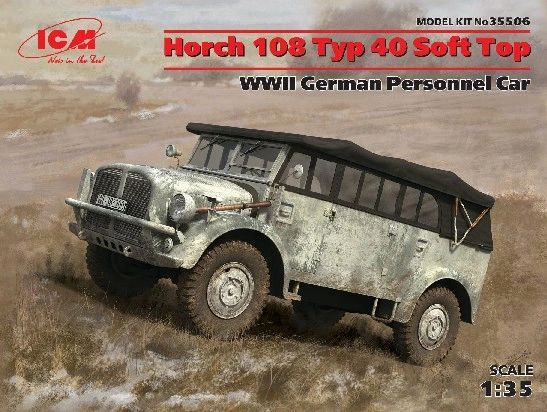 1/35 WWII German Horch 108 Type 40 Soft Top Personnel Car - ICM 35506