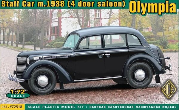 1/72 Olympia Mod 1938 Saloon Staff Car - ACE 72518