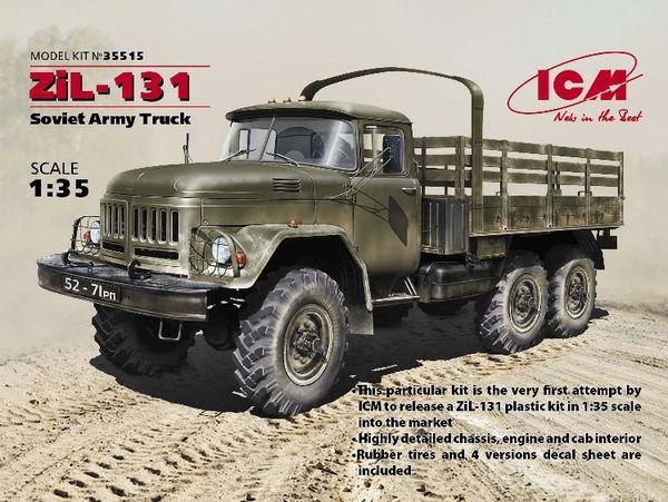 1/35 Soviet ZiL131 Stake Body Army Truck - ICM 35515