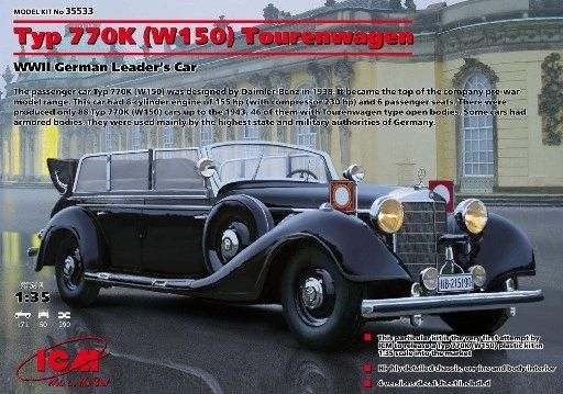 1/35 WWII German Type 770K (W150) Leader Tourenwagen - ICM 35533
